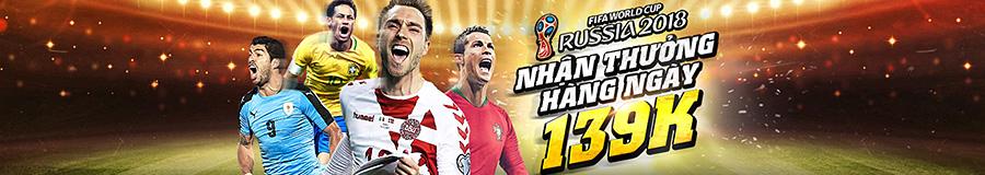 Đồng hành cũng World Cup 2018 để nhận thưởng mỗi ngày.